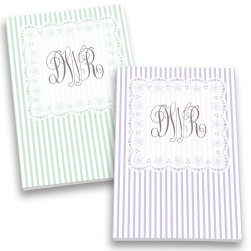 Quilted Monogram Personalized Journal Set