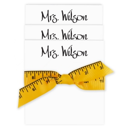 Highland 3-Tablet Set - White with Ruler Ribbon