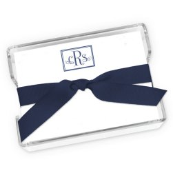 Prestigious Monogram Agenda - White with holder