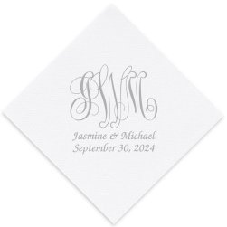 Pamplona Couples Wedding Luxury AirLaid Napkin