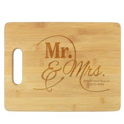 Mr and Mrs Cutting Board - Engraved
