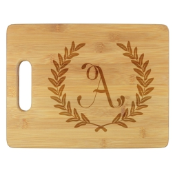 Wheat Leaf Cutting Board - Engraved