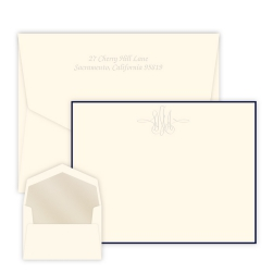 Virginia Monogram Card - Embossed
