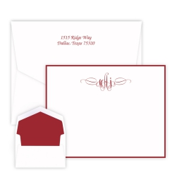 Sienna Monogram Card - Raised Ink