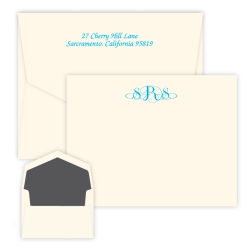 Roma Monogram Card - Raised Ink
