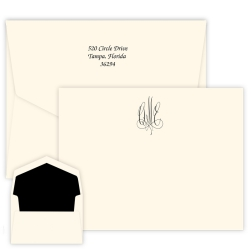 Roberta Monogram Apex Card - Raised Ink