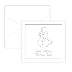 Snowman Portrait Enclosure - Raised Ink