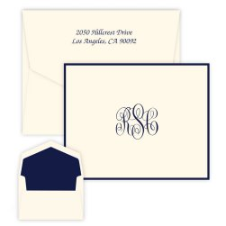 Delavan Monogram Note - Raised Ink