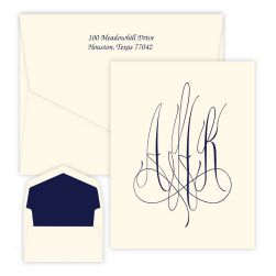 Roberta Monogram Oversized Note - Raised Ink
