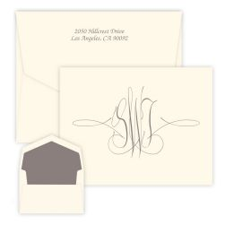 Virginia Monogram Oversized Note - Raised Ink