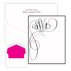 Orchid Monogram Oversized Note - Raised Ink