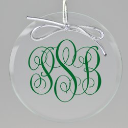 Classic Monogram Printed Ornament - Circle