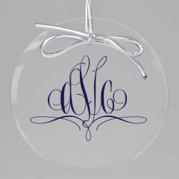 Paris Monogram Printed Ornament - Circle
