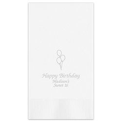 Birthday Guest Towel - Embossed