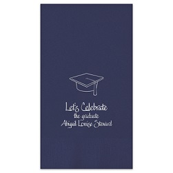 Graduation Guest Towel - Foil-Pressed
