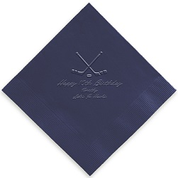 Athlete Napkin - Embossed