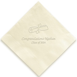 Graduation Napkin - Embossed
