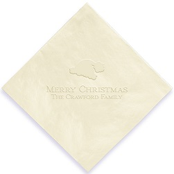 Christmas Napkin - Embossed