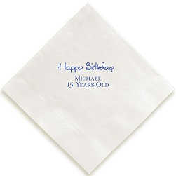 Celebration Napkin - Foil-Pressed