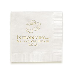 Wedding Napkin - Foil-Pressed