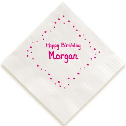 Birthday Confetti Napkin - Foil-Pressed