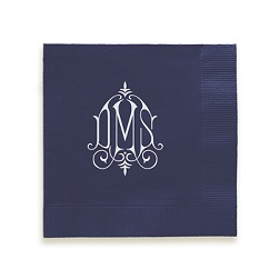 Whitlock Monogram Napkin - Foil-Pressed