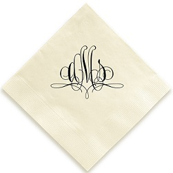 Paris Monogram Napkin - Foil-Pressed
