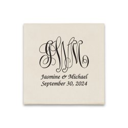 Pamplona Couples Wedding Coaster Napkin - Raised Ink