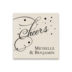 Cheers Coaster Napkin - Raised Ink