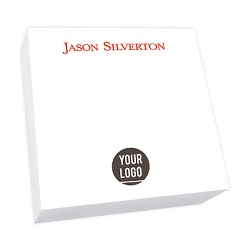 Your Logo Memo Square - White REFILL