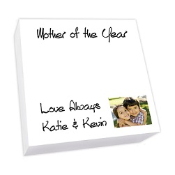 Family Photo Memo Square - White REFILL
