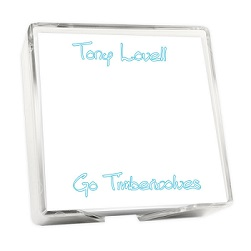 Stencil Memo Square - White with holder
