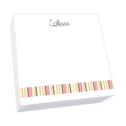 Kelly Stripes Memo Square - White Refill