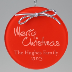 Merry Christmas Keepsake Ornament - Circle