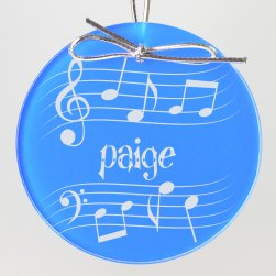 Music Keepsake Ornament - Circle