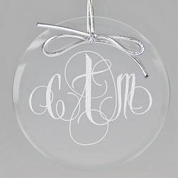 Firenze Monogram Keepsake Ornament - Circle