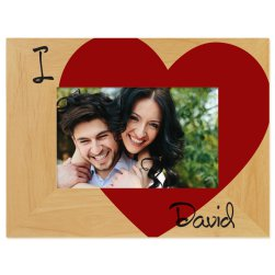 I Love You Printed Picture Frame