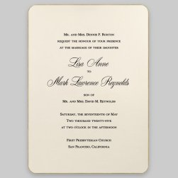 LaTour Wedding Invitation Card - Raised Ink