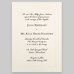 Hawthorn Wedding Invitation Card - Raised Ink