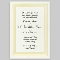 Amour Wedding Invitation Card - Raised Ink