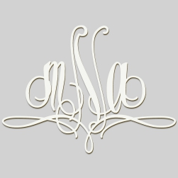 Paris Monogram Wall Sign