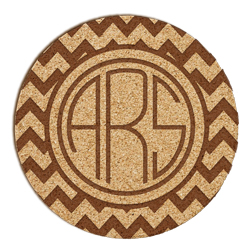 Bronson Chevron Monogram Cork Coaster