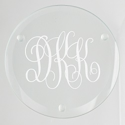 Bronson Monogram Glass Coaster