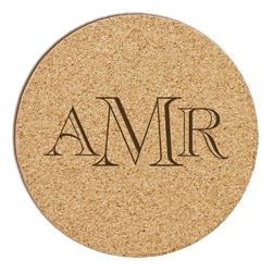 Reynosa Monogram Cork Coaster