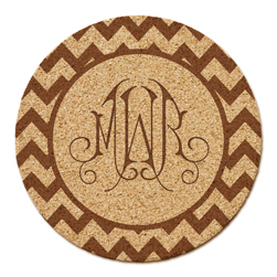 Reynosa Chevron Monogram Cork Coaster