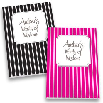 Pinstripes Personalized Journal Set