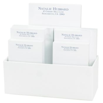 Distinctive 7-Tablet Set - White with Linen holder