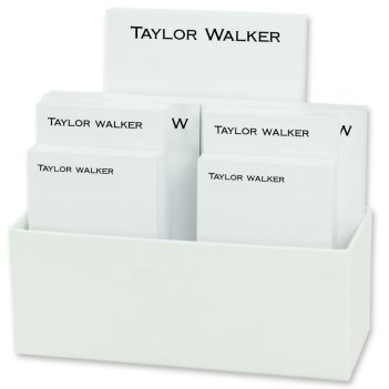Bellmore 7-Tablet Set - White with Linen holder