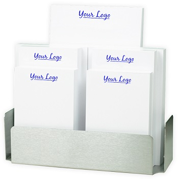 Your Logo 7-Tablet Set - White with Steel holder