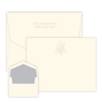 Roberta Monogram Card - Embossed